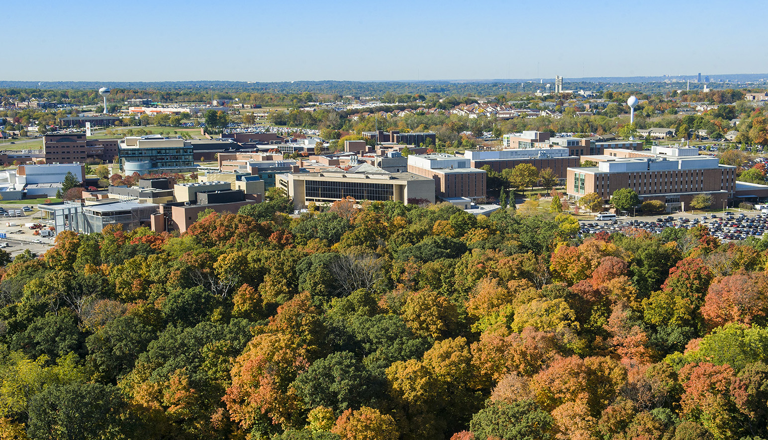 Wright State University Dayton Campus in fall