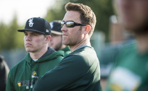 Coach Greg Lovelady led the Wright State baseball team to a first-place finish in the Horizon League and the top seed in the league tournament, which begins May 25 at Nischwitz Stadium. Lovelady was also named the league's Coach of the Year. (Photos by Will Jones)