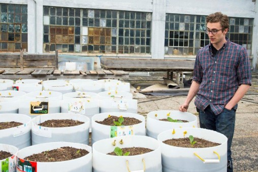 Reilly Dixon, a 2014 Wright State graduate, has volunteered at The Urban Renewal Farm for about a year.