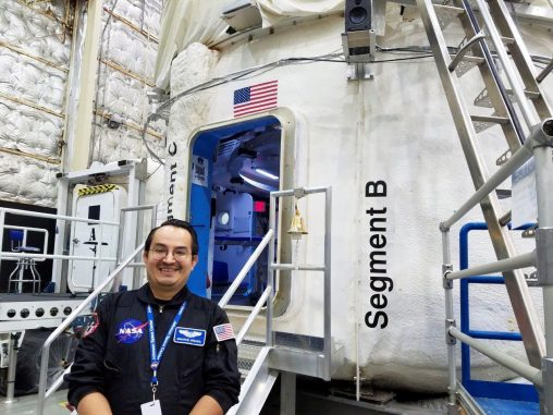 Emmanuel Urquieta, obtained his master's degree in aerospace medicine from the Wright State Boonshoft School of Medicine in 2015, will spend the next month in a simulated spacecraft at the Johnson Space Center in Houston. (Contributed photo)