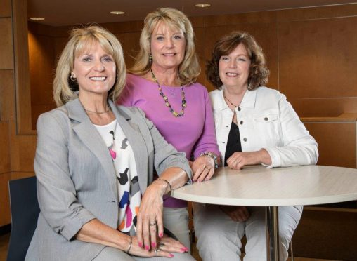 From left: Wright State alumni Kathy (Fish) Arquilla, Sue (Fish) Ayers and Betsy (Fish) Brown established the Fish Sisters Legacy Scholarship in memory of their sister Gerry. (Photos by Erin Pence)