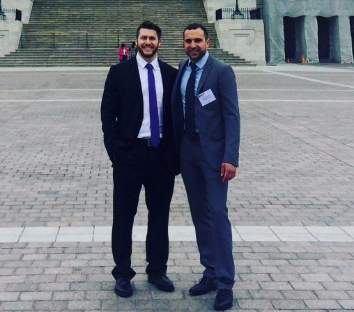Boonshoft School of Medicine students Jensen Kolaczko, left, and Nick Christian participated in the American College of Physicians Leadership Day on Capitol Hill in Washington, D.C. (Contributed photos)