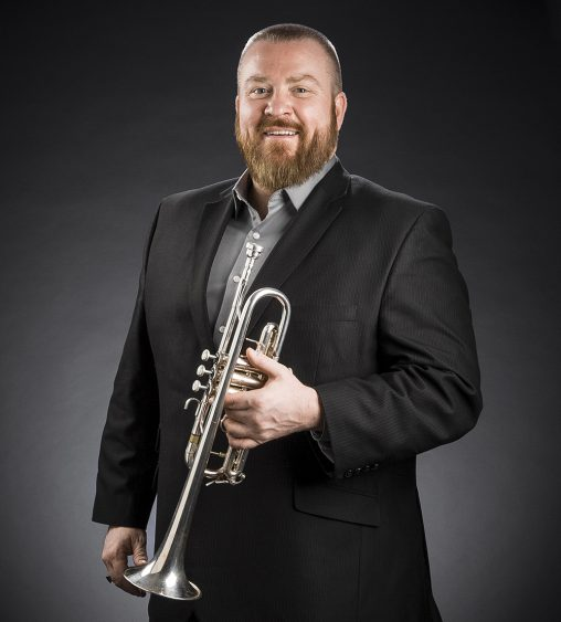 """Journeymen's Songs: The Music of Steven Winteregg,"" a new album by Daniel Zehringer, associate professor of music at Wright State, highlights the diverse range and sound of the trumpet. (Photo by Erin Pence)"