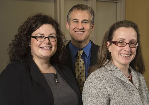 "From left: Rebecca Tuttle, James R. Ouellette  and Minia Hellan will present ""Surgical Oncology: The Surgeons' Role in Comprehensive Cancer Care"" on Sept. 29."