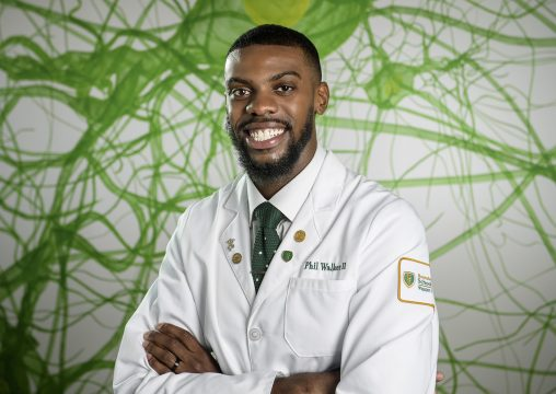 Phil Walker, a first-year medical student at the Boonshoft School of Medicine, is pursuing an M.D./Ph.D. dual degree. (Photo by Will Jones)