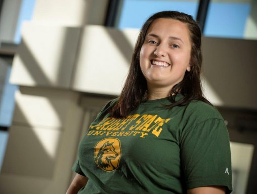 An urban affairs major, Wright State senior Katie Rossman plans to pursue a career working for the government or in nonprofit management. (Photo by Erin Pence)