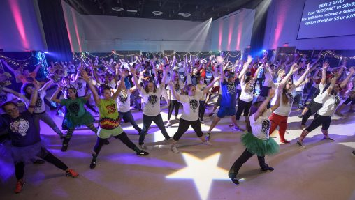 Raiderthon, a 15-hour dance marathon and fundraiser, takes place Nov. 19 from 10 a.m. to 1 a.m. in the Apollo Room of the Student Union.