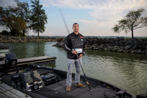 Anthony Bell is conducting master's degree research on fish physiology and contemplating becoming a professional fisherman. (Photos by Erin Pence)
