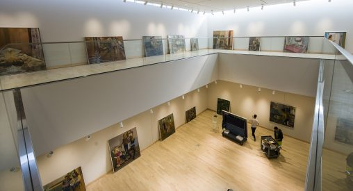 In its new location, the Robert and Elaine Stein Galleries feature five gallery spaces for rotating exhibitions and works from the Galleries Permanent Collection and the Stein Collection.
