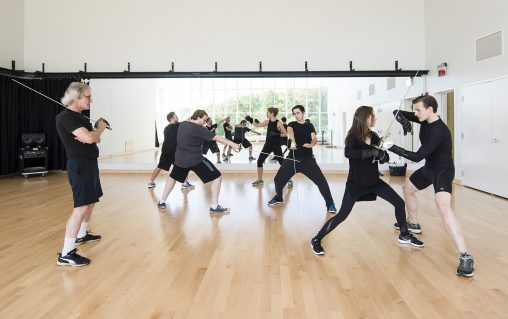 Students can train in the art of stage combat in a new studio space.