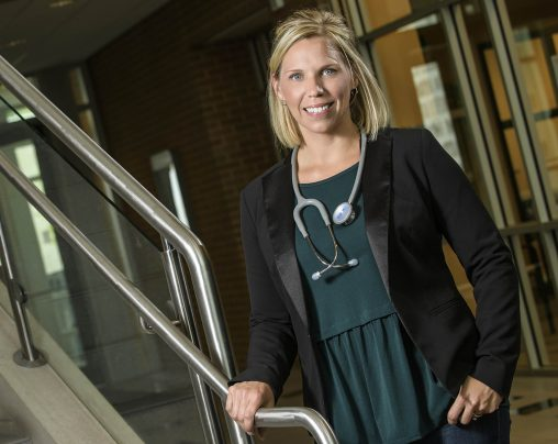 Pamela Nelson, a senior nursing major, was named Wright State's 2016 Presidential Scholar. (Photo by Erin Pence)