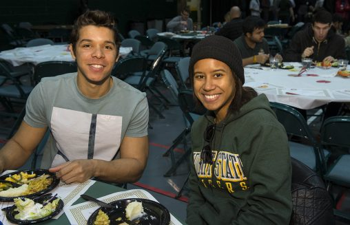 """Everyone in the Wright State community is invited to Raidersgiving, whose motto is """"No Raider Eats Alone."""""""