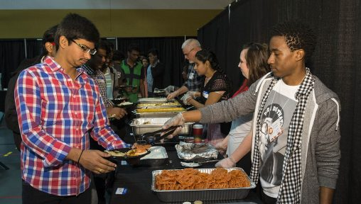 More than 500 people are expected to attend Raidersgiving on Thursday, Nov. 24, from noon to 2 p.m. in the Nutter Center's McLin Gym.