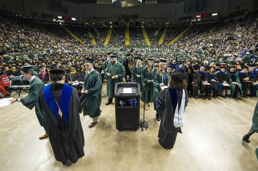 Wright State University will hold its 2016 fall commencement ceremony on Dec. 17 at 10 a.m. in the Wright State Nutter Center.