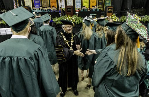 President Hopkins tells graduating Wright State students that caring for the greater good is true measure of success