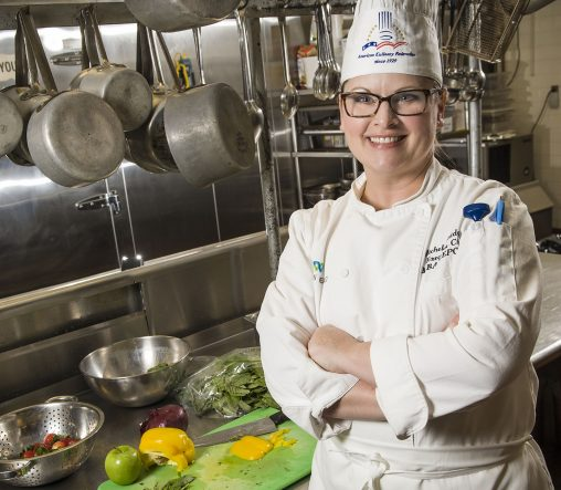 Two-time Wright State graduate Michelle Bridges turned her lifelong passion for cooking into a successful culinary career. (Photos by Chris Snyder)