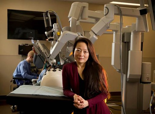 Caroline Cao's research projects include inventing a revolutionary medical device that could eliminate the need for radiation-emitting X-rays and improving robotic surgery in hospital operating rooms.