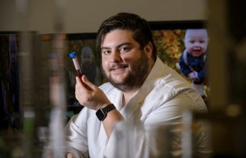 Research on respiratory physiology by Ryan Rakoczy, a physiology and neuroscience graduate student, took on a more personal meaning when his son was born prematurely. (Photos by Will Jones)