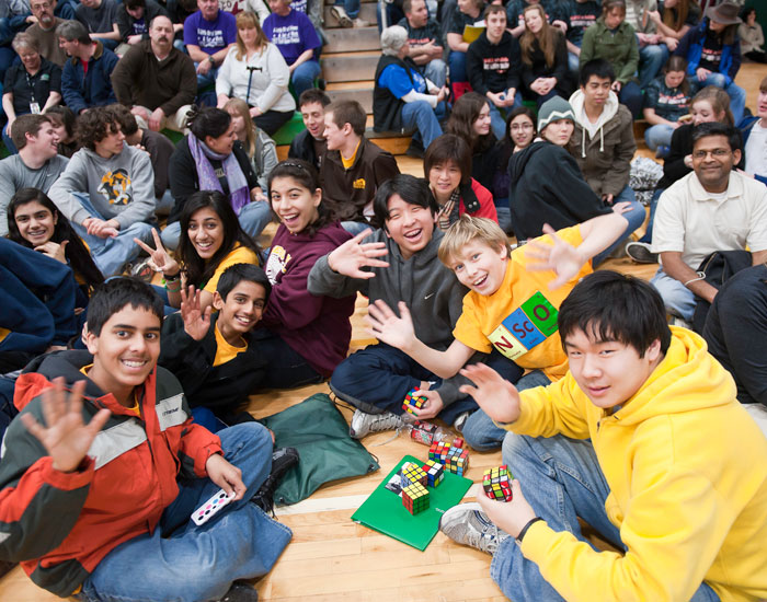 The event gave students the opportunity to make new friends from other schools.