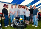 Photo of the Wright State robotic lawn mower team.