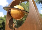 Photo of the large sculpture of Saturn.