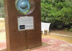 Photo of the sculpture of the Earth.