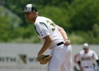 Photo of Michael Schum, a junior relief pitcher on the Wright State baseball team.