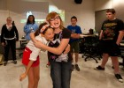 "Photo of Mada Fernandez and Ariana Smith hamming it up doing improv in ""Dazzling Dramatics."""