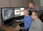 Photo of WSRI Researcher Dave Gross (foreground) with Air Force researchers