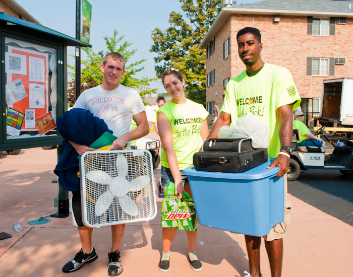 Freshman Robert Lynd was one of many students who were thankful to have the help of volunteers for move-in day.