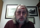 Photo of David Cool, Ph.D., associate professor of Pharmacology and Toxicology dressed up as a zombie.
