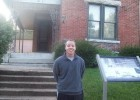Photo of Aaron Thomas Coldren at the Paul Laurence Dunbar House in Dayton