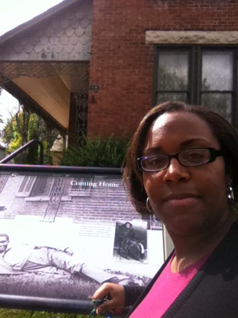 Photo of Tiffany N. Penn at the Paul Laurence Dunbar House in Dayton.