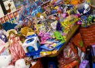 Photo of toys donated to the Toy Cottage.