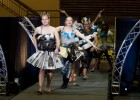 Photo of students walking the runway.