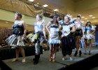 Photo of several Wright State students walking the runway wearing their creations for Project Runway.