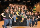 Photo of the 2011 Mr. WSU winner with the sisters of Delta Zeta.