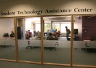 Photo of the Student Technology Assistance Center at the Wright State Dunbar Library
