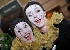 Photo of two students dressed as mimes.