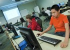 Photo of pre-college students in the Webmasters class
