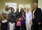 "Photo of March for Babies Ambassador, DeMarrione ""Marri"" Dansby, her family, Wright State representatives, and Executive Director of the March of Dimes Dayton office Jacalyn Allen (right of Marri)."