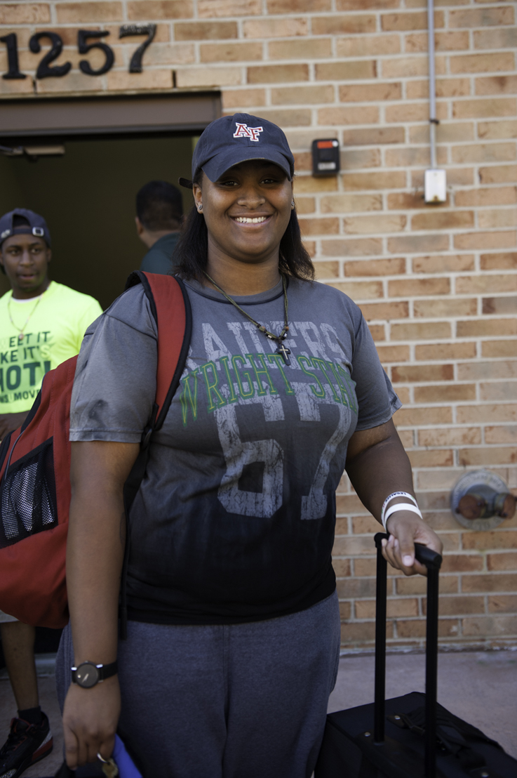 Freshman Brianna Vickers is excited to start her college career.