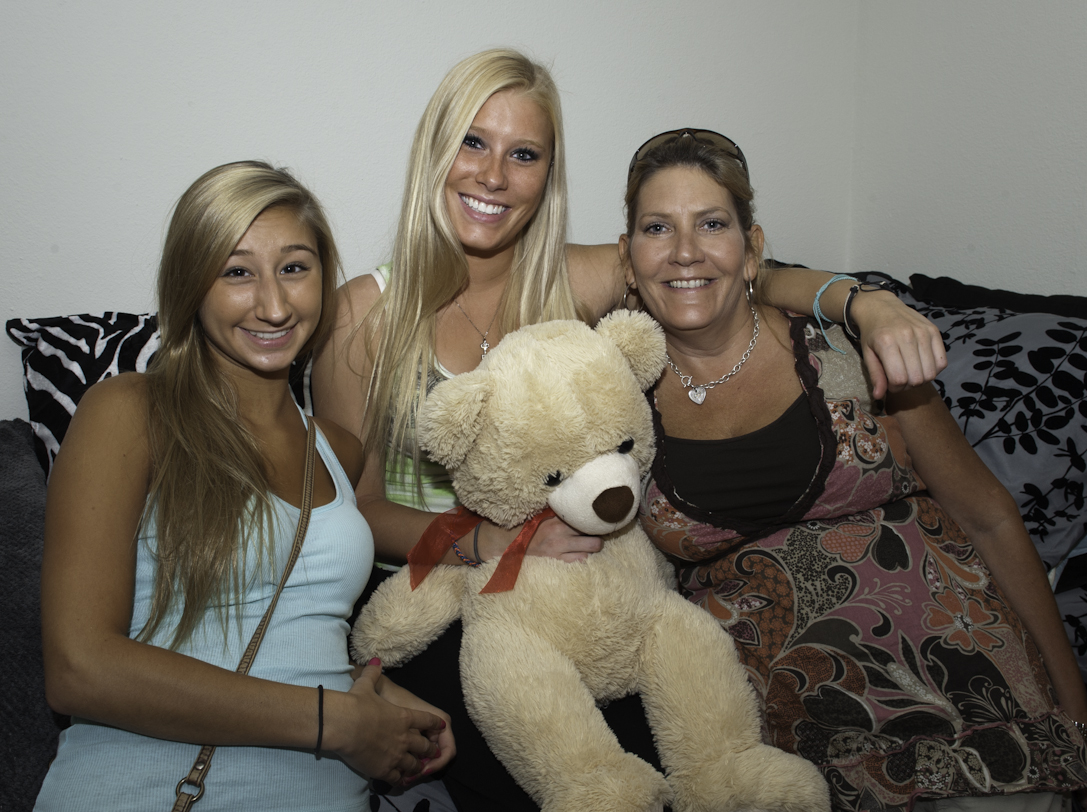 Freshman Summer Sargent and her family have her moved in and ready to start college.