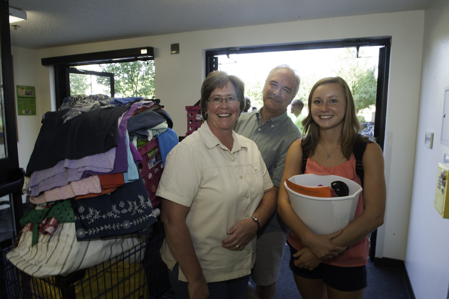 Freshman Molly Hertenstein got a lot of help from her mom and dad on Move-in Day.