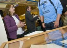 Photo of Dawne Dewey talking to Brian Bolibrzuch at Wright Brothers Day