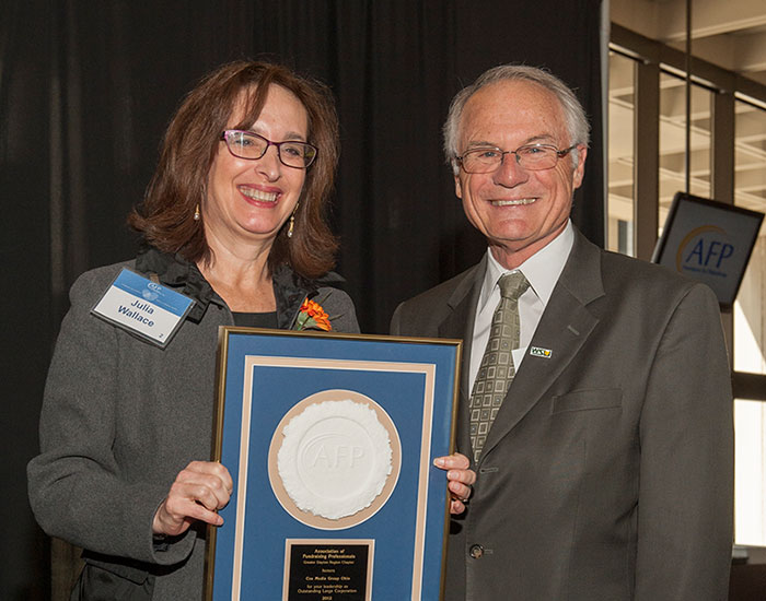 Photo of Dr. Hopkins with Julia Wallace.