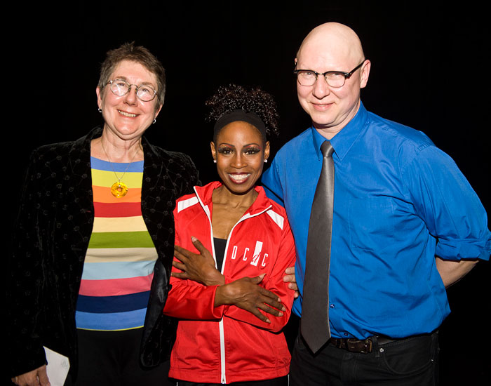 """Photo of Julia Reichert and Steve Bognar with Sheri """"Sparkle"""" Williams"""
