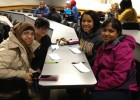 Photo of students participating in Match Day of the Conversation Partner Project