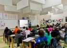 Photo of students in class at the Dayton Regional STEM School in Kettering, Ohio.