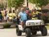 Over 110 golf carts and 440 volunteers will be used to move in about 1,400 new students.